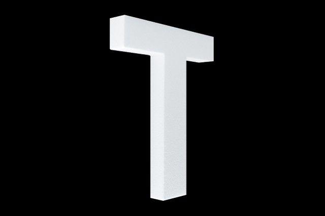 Cristallo Blanco letter T
