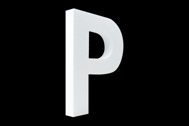Cristallo Blanco letter P