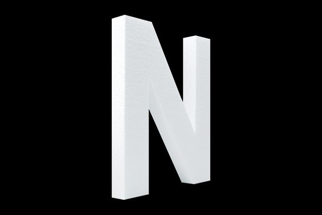 Blanco letter N