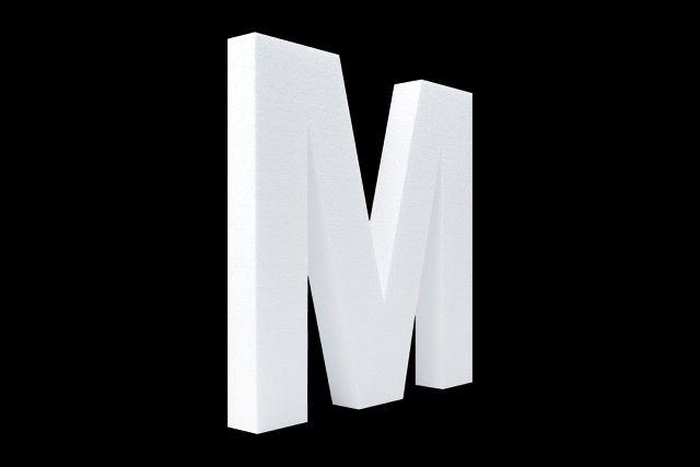 Blanco letter M