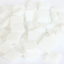 Cristallo Glas-mozaieksteentjes 1x1 cm ca. 200 stuks Wit
