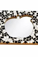Mozaiek pakket Spiegel DeLuxe Appel Zwart-Wit