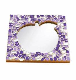 Cristallo Mozaiek pakket Spiegel DeLuxe Appel Wit-Paars-Violet