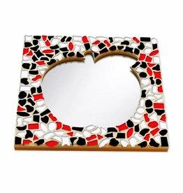 Cristallo Mozaiek pakket Spiegel DeLuxe Appel Rood-Zwart-Wit