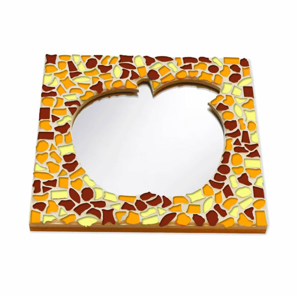 Mozaiek pakket Spiegel DeLuxe Appel Bruin-Oranje-Geel