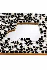 Cristallo Mozaiek pakket Spiegel DeLuxe Auto Zwart-Wit