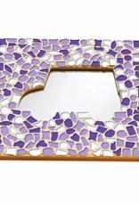 Cristallo Mozaiek pakket Spiegel DeLuxe Auto Wit-Paars-Violet