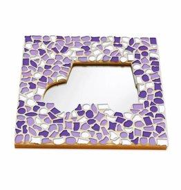 Mozaiek pakket Spiegel DeLuxe Auto Wit-Paars-Violet