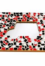 Cristallo Mozaiek pakket Spiegel DeLuxe Auto Rood-Zwart-Wit