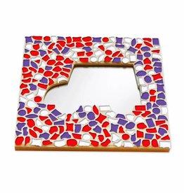 Mozaiek pakket Spiegel DeLuxe Auto Rood-Wit-Paars