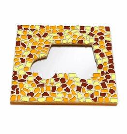 Cristallo Mozaiek pakket Spiegel DeLuxe Auto Bruin-Oranje-Geel