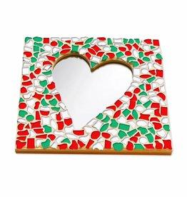 Mozaiek pakket Spiegel DeLuxe Hart Kerst