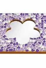 Cristallo Mozaiek pakket Spiegel DeLuxe Bloem Wit-Paars-Violet