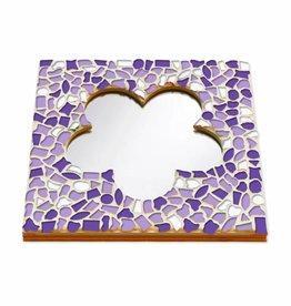 Mozaiek pakket Spiegel DeLuxe Bloem Wit-Paars-Violet