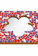 Mozaiek pakket Spiegel DeLuxe Bloem Rood-Wit-Paars