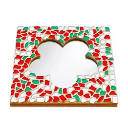 Cristallo Mozaiek pakket Spiegel DeLuxe Bloem Kerst