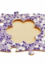 Cristallo Fotolijst Bloem Wit-Paars-Violet