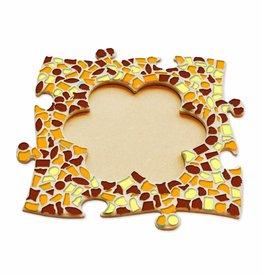 Mozaiek pakket Fotolijst Bloem Bruin-Oranje-Geel