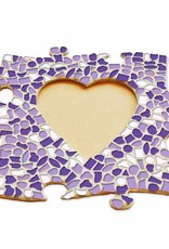 Cristallo Fotolijst Hart Wit-Paars-Violet