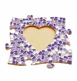 Cristallo Mozaiek pakket Fotolijst Hart Wit-Paars-Violet