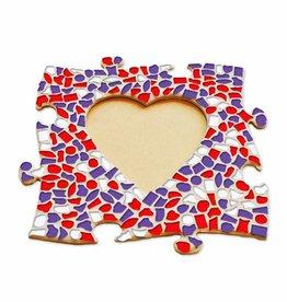 Mozaiek pakket Fotolijst Hart Rood-Wit-Paars