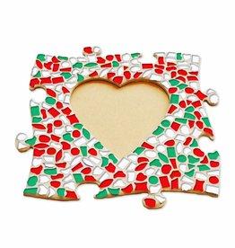 Mozaiek pakket Fotolijst Hart Kerst