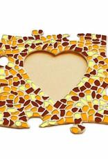 Fotolijst Hart Bruin-Oranje-Geel