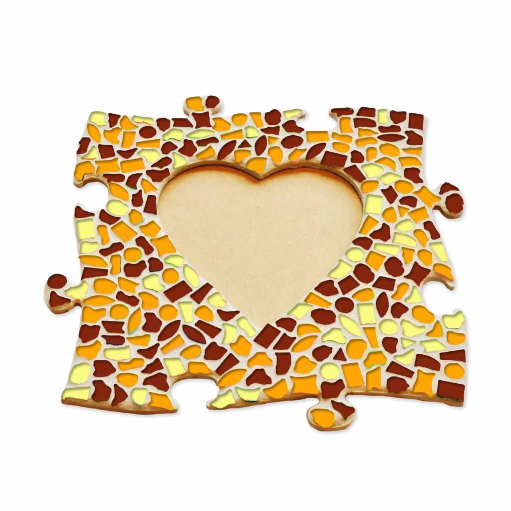 Cristallo Fotolijst Hart Bruin-Oranje-Geel