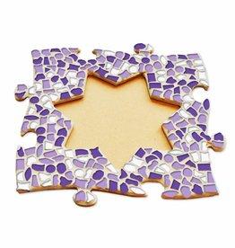 Cristallo Mozaiek pakket Fotolijst Ster Wit-Paars-Violet