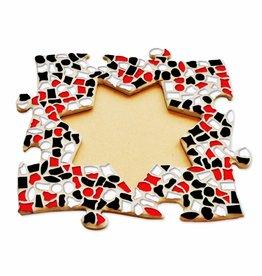 Mozaiek pakket Fotolijst Ster Rood-Zwart-Wit