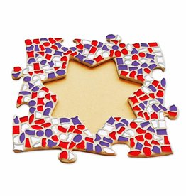 Mozaiek pakket Fotolijst Ster Rood-Wit-Paars