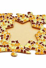 Fotolijst Ster Bruin-Oranje-Geel