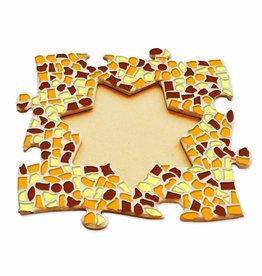 Mozaiek pakket Fotolijst Ster Bruin-Oranje-Geel