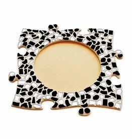 Mozaiek pakket Fotolijst Cirkel Zwart-Wit