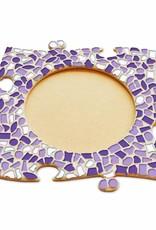 Fotolijst Cirkel Wit-Paars-Violet