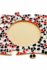 Fotolijst Cirkel Rood-Zwart-Wit