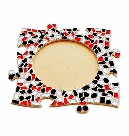 Mozaiek pakket Fotolijst Cirkel Rood-Zwart-Wit