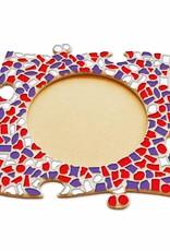 Fotolijst Cirkel Rood-Wit-Paars
