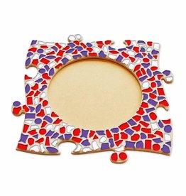 Mozaiek pakket Fotolijst Cirkel Rood-Wit-Paars