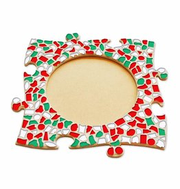 Mozaiek pakket Fotolijst Cirkel Kerst