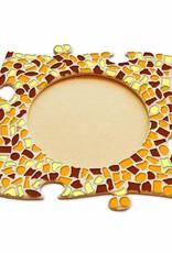 Fotolijst Cirkel Bruin-Oranje-Geel