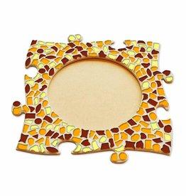 Mozaiek pakket Fotolijst Cirkel Bruin-Oranje-Geel