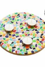 Waxinelichthouder mozaiek