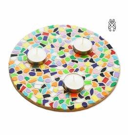 Mozaiekpakket Waxinelichthouder rond