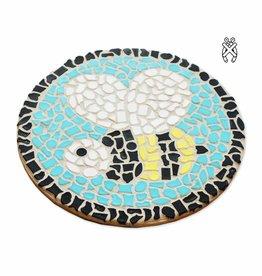 Cristallo Mozaiekpakket Wandbord Bij