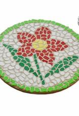 Mozaiekpakket Wandbord Bloem