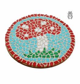 Cristallo Mozaiekpakket Wandbord Paddenstoel