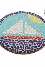Cristallo Mozaiekpakket Wandbord Zeilboot