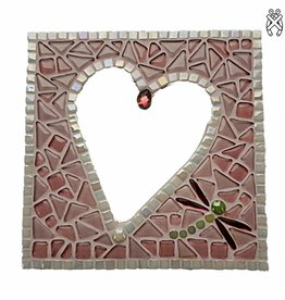 Cristallo Mozaiek pakket Spiegel Glorio Hart Roze