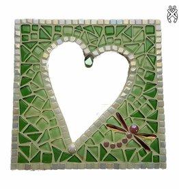 Mozaiek pakket Spiegel Glorio Hart Groen